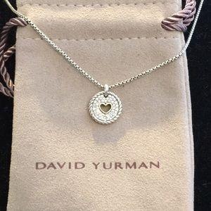 David Yurman SS/18k Diamond Heart Necklace